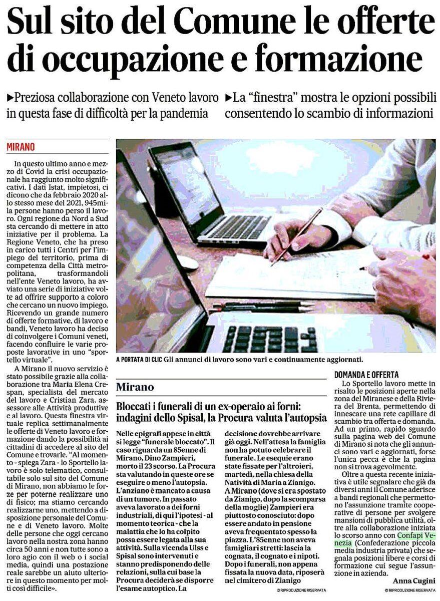 2021_04_29_Il_Gazzettino_(ed._Venezia)_pag.40_Miranese_Sul_sito_del_Comune_le_offerte_di_occupazione_e_formazione